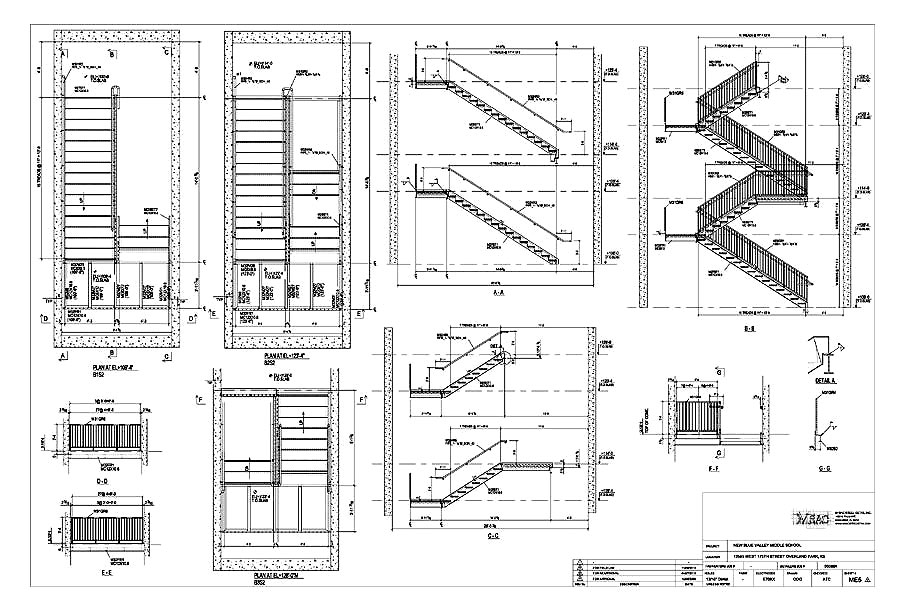 Captivating Stair Erection Drawing Samples